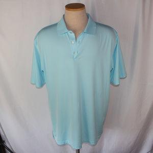Peter Millar Summer Comfort Baby Blue Golf Polo